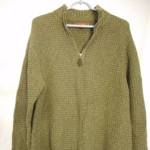 Tasso Elba 1/2 Zip style Green / Brown sweater
